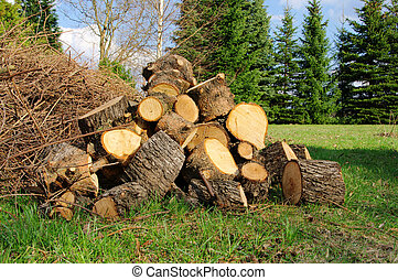 Holzstapel - stack of wood 30