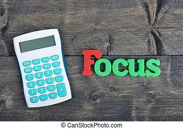 holztisch, fokus