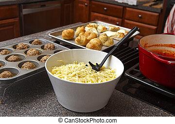 Homade Pasta Dinner