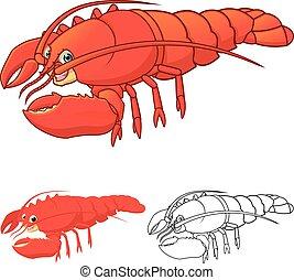 homard, caractère, dessin animé