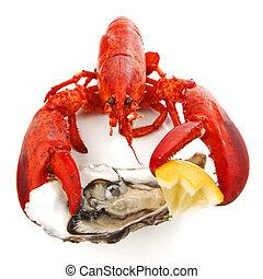homard, huître