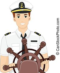 hombre, capitán de la nave