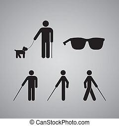 hombre ciego