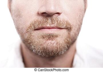 hombre, con, barba