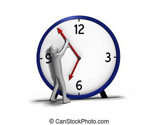 hombre, contra, tiempo