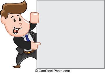 hombre, copia, empresa / negocio, señalar, espacio