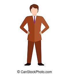 hombre de negocios, aislado, joven
