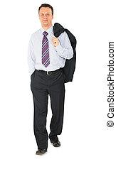 hombre de negocios, ambulante