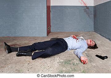 hombre de negocios, asesinado