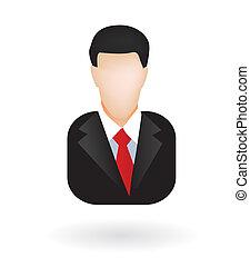 hombre de negocios, avatar, abogado