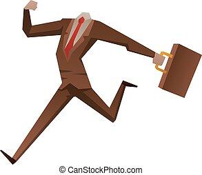 hombre de negocios, cabeza, vector, ilustración, no