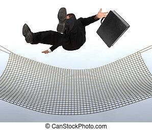 hombre de negocios, caer