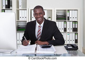 hombre de negocios, calculador, finanzas