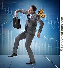 hombre de negocios, concepto, llave, trabajador