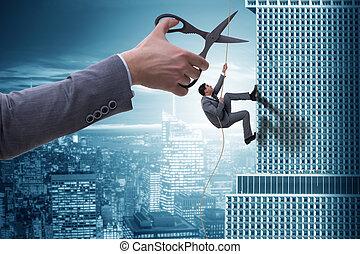 hombre de negocios, concepto, riesgo, empresa / negocio