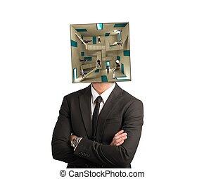 hombre de negocios, confuso