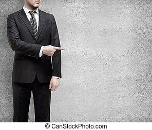 hombre de negocios, dedo, exposiciones