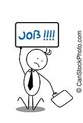 hombre de negocios, desempleados