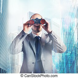 hombre de negocios, determinado