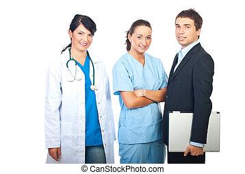 hombre de negocios, doctors, mujeres