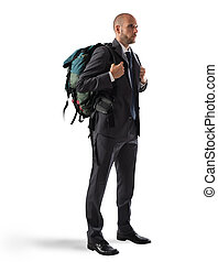 hombre de negocios, explorador