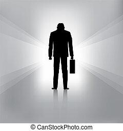 hombre de negocios, falle