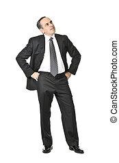 hombre de negocios, fondo blanco