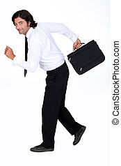 hombre de negocios, huir
