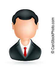 hombre de negocios, icono