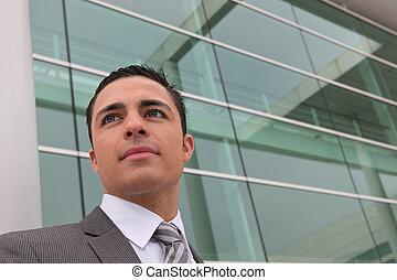 hombre de negocios, joven, ambicioso