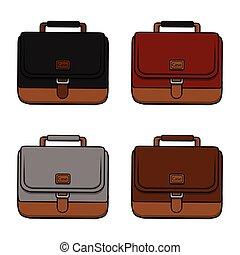 hombre de negocios, maletín, ilustración