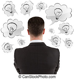 hombre de negocios, pensamiento