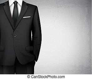 hombre de negocios, plano de fondo, traje