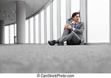 hombre de negocios, retrato