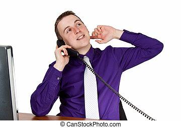 hombre de negocios, teléfono