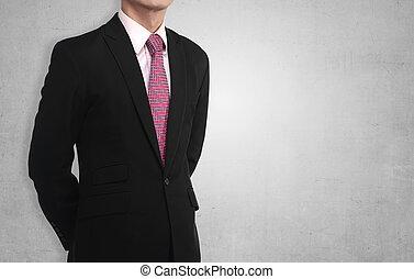 hombre de negocios, torso