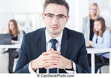 hombre de negocios, trabajo