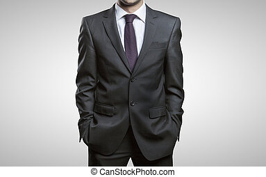 hombre de negocios traje