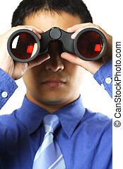 hombre de negocios, visión