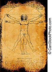 hombre de vitruvian, foto
