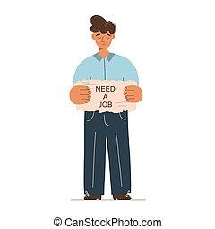hombre, desempleados