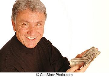 hombre, dinero, 163