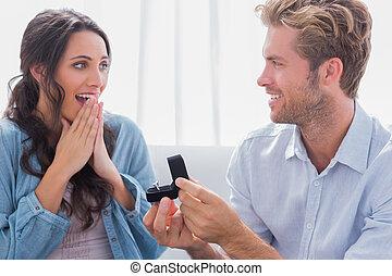 hombre, el suyo, socio, casar, preguntar, él