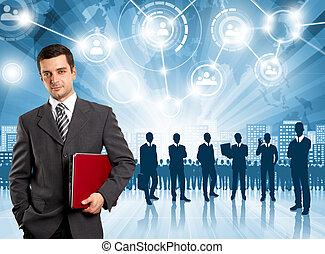 hombre, empresa / negocio, empleador