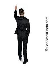 hombre, espalda, empresa / negocio, vista