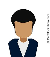 hombre, faceless, icono