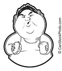 hombre gordo