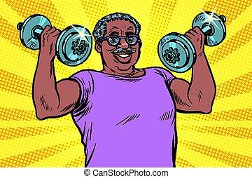 hombre, levantamientos, condición física, deporte,...