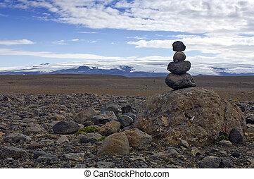hombre, piedra
