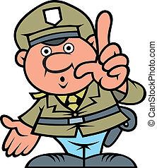 hombre, policía, checo